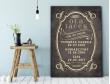 Plakat lub Obraz - Rocznica małżeństwa z ważnymi datami w eleganckim stylu