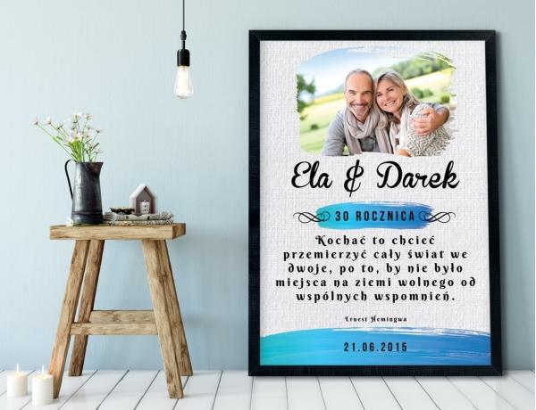 Plakat lub Obraz - Rocznica ślubu z cytatem Hemingwaya