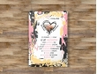 Plakat lub Obraz - Rocznica małżeństwa w liczbach z plamami farby