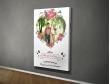 Plakat lub Obraz - Zdjęcie w sercu z kwiatami
