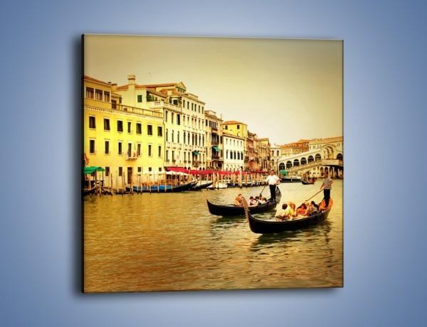 Obraz na płótnie – Wenecki rejs gondolą – jednoczęściowy kwadratowy AM240