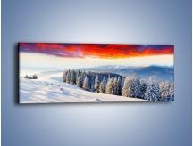 Obraz na płótnie – Cały urok gór zimą – jednoczęściowy panoramiczny KN805