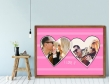 Plakat lub Obraz - Dwa zdjęcia w kształcie serc