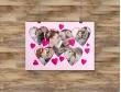 Plakat lub Obraz - Pięć zdjęć w kształcie serc