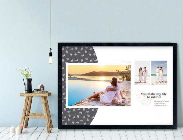 Plakat lub Obraz - Trzy zdjęcia w prostym i eleganckim stylu