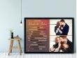 Plakat lub Obraz - Rocznica małżeństwa w liczbach z dwoma zdjęciami