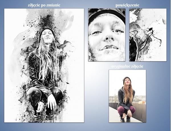Artystyczna metamorfoza zdjęcia - Zabawy atramentem