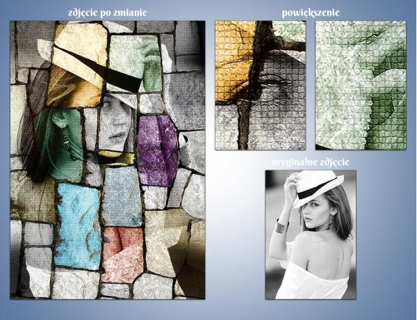 Artystyczna metamorfoza zdjęcia - Witrażowe odbicie lustrzane