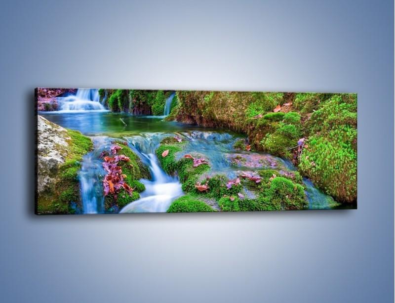 Obraz na płótnie – Bajkowy pejzaż – jednoczęściowy panoramiczny KN841