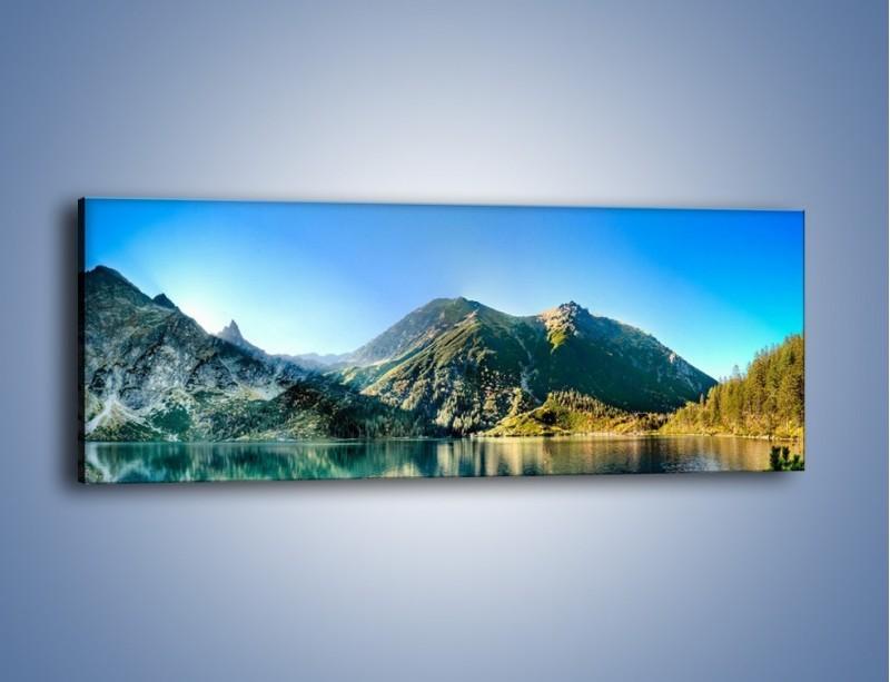 Obraz na płótnie – Chłodny klimat górski – jednoczęściowy panoramiczny KN844