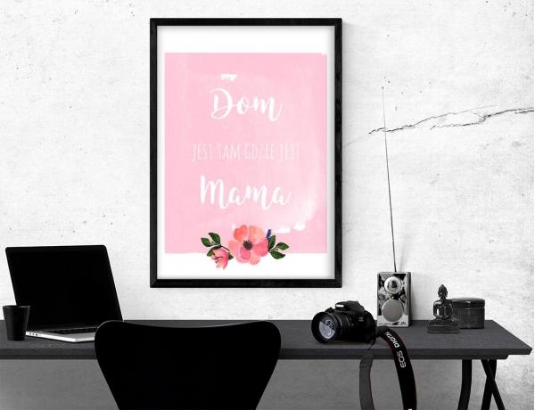 Plakat lub obraz - Dom jest tam gdzie jest mama