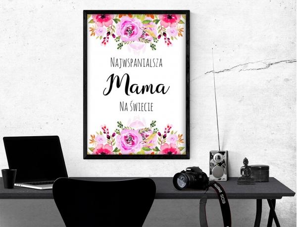 Plakat lub obraz - Najwspanialsza mam na świecie