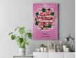 Plakat lub obraz - Kocham Cię na tle róż