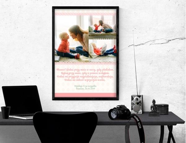Plakat lub obraz - Podziękowania dla mamy