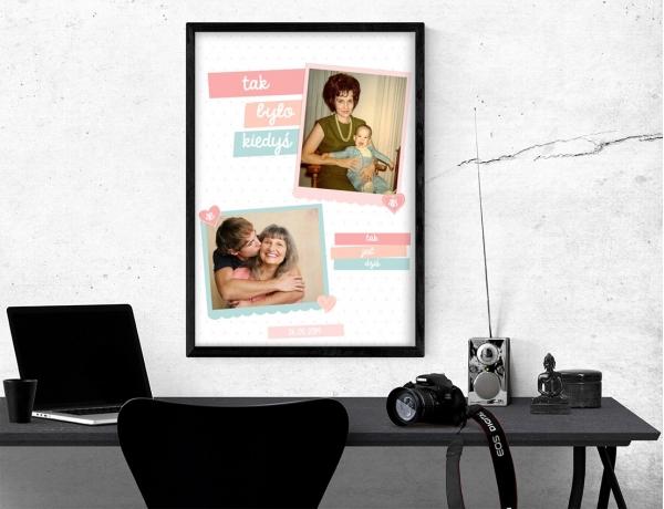 Plakat lub obraz - Jak było z mamą kiedyś, a jak jest dziś