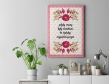 Plakat lub obraz - Mama jak najpiękniejszy kwiat
