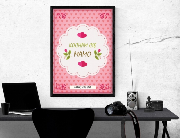 Plakat lub obraz - Kocham Cię Mamo