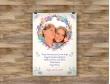 Plakat lub obraz - Wianuszek kwiatów wokół zdjęcia