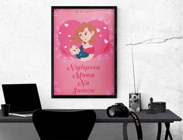 Plakat lub obraz - Moja mama jest najlepsza