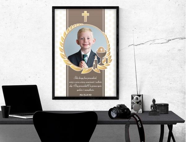 Plakat lub obraz na Pamiątkę I Komunii - Idź drogą bez przeszkód