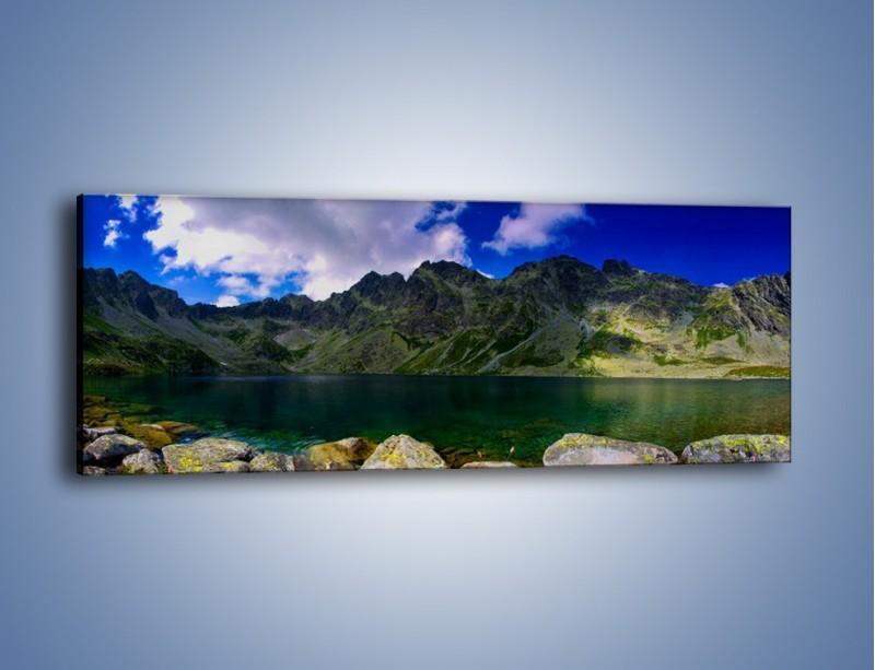 Obraz na płótnie – Horyzont górskich szczytów – jednoczęściowy panoramiczny KN856