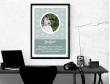 Plakat lub obraz na Pamiątkę I Komunii - Zdjęcie na tle gołębi
