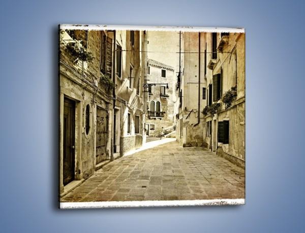 Obraz na płótnie – Stara uliczka w stylu vintage – jednoczęściowy kwadratowy AM243