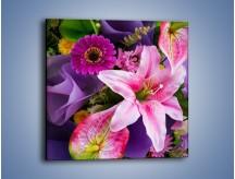 Obraz na płótnie – Barwna letnia wiązanka – jednoczęściowy kwadratowy K460