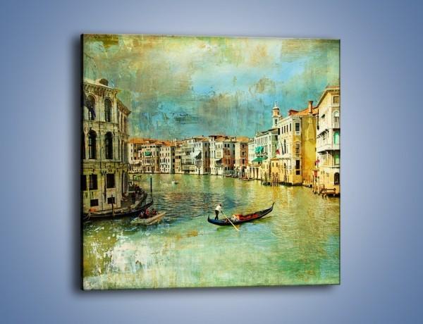 Obraz na płótnie – Weneckie lato w stylu vintage – jednoczęściowy kwadratowy AM245