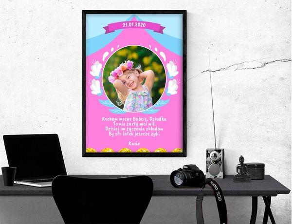 Plakat lub obraz - Dla Babci i Dziadka - Wzór 01
