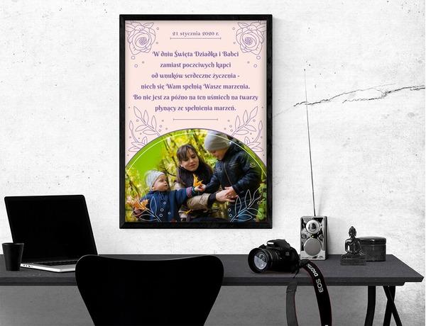 Plakat lub obraz - Dla Babci i Dziadka - Wzór 27