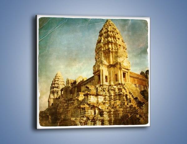 Obraz na płótnie – Starożytna architektura w stylu vintage – jednoczęściowy kwadratowy AM246