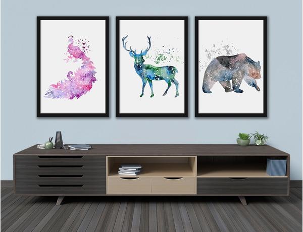 Zwierzęta malowane akwarelami