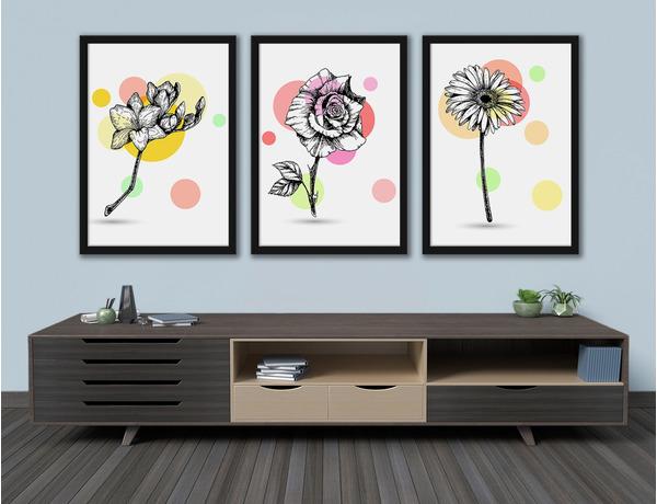 Kwiaty z kolorowymi plamkami
