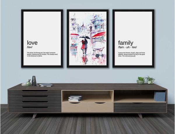 Zakochana para z definicjami miłości i rodziny