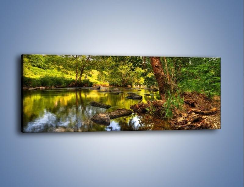 Obraz na płótnie – Tęsknota w wodnym odbiciu – jednoczęściowy panoramiczny KN936