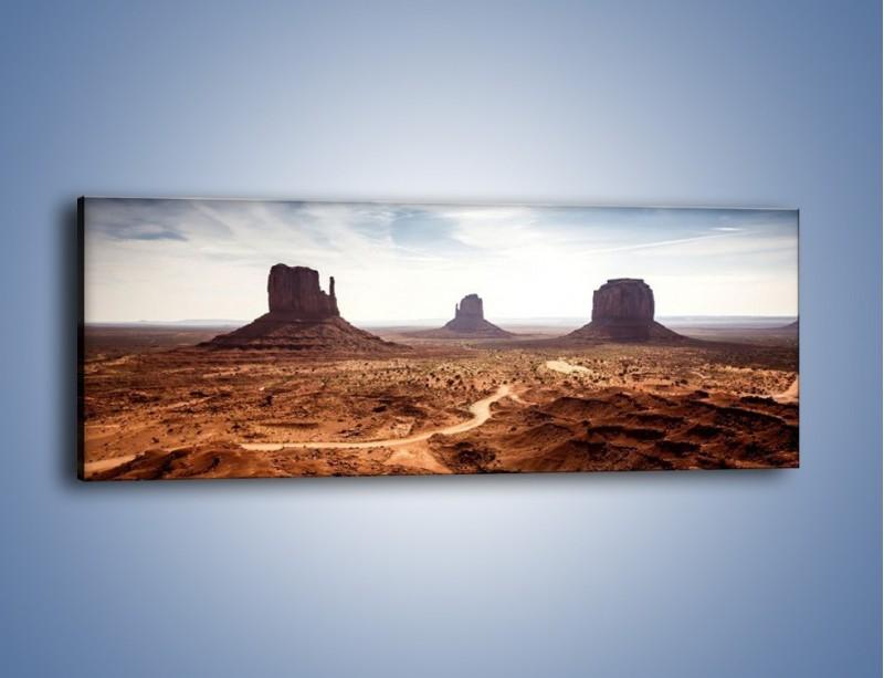 Obraz na płótnie – Spragniona ziemia skąpana w słońcu – jednoczęściowy panoramiczny KN943