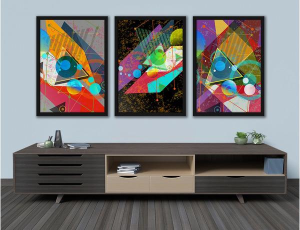 Abstrakcyjne figury geometryczne w kolorach