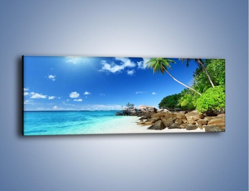 Obraz na płótnie – Rajska plaża i jej piękno – jednoczęściowy panoramiczny KN963