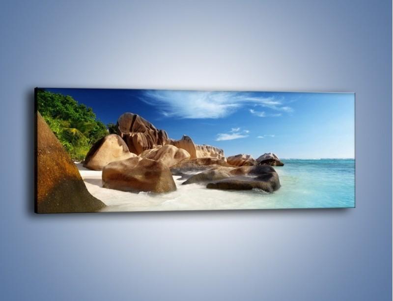 Obraz na płótnie – Niewyobrażalny błękit oceanu – jednoczęściowy panoramiczny KN986