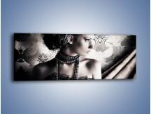 Obraz na płótnie – Czarny kobiecy charakter – jednoczęściowy panoramiczny L095