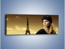 Obraz na płótnie – Czarna dama w paryżu – jednoczęściowy panoramiczny L114