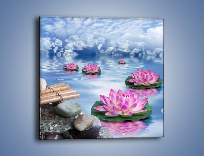 Obraz na płótnie – Baśniowy świat kwiatów – jednoczęściowy kwadratowy K624
