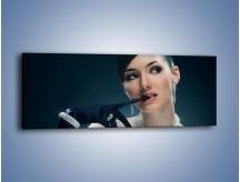 Obraz na płótnie – Czarna dama w diamentach – jednoczęściowy panoramiczny L171
