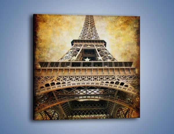 Obraz na płótnie – Wieża Eiffla w stylu vintage – jednoczęściowy kwadratowy AM261