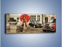 Obraz na płótnie – Damski świat z dodatkiem czerwonego – jednoczęściowy panoramiczny L242
