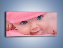 Obraz na płótnie – Bobas w różowej czapeczce – jednoczęściowy panoramiczny L256