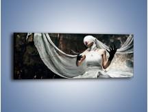 Obraz na płótnie – Dama w białych bandażach – jednoczęściowy panoramiczny L278