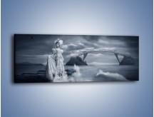 Obraz na płótnie – Dama w sepii – jednoczęściowy panoramiczny L292