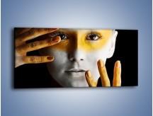 Obraz na płótnie – Farby do twarzy i ciała – jednoczęściowy panoramiczny L345
